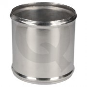 Acople aluminio,D25 L75