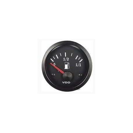 Reloj nivel de gasolina fondo negro