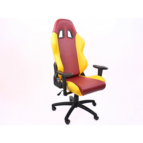 Silla oficina FK Liverpool rojo/amarillo