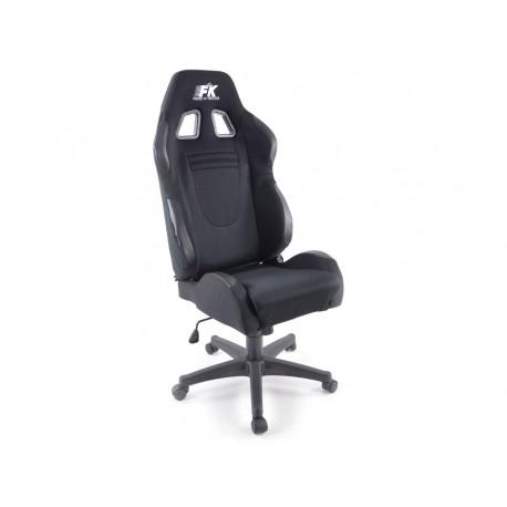 Silla oficina Racecar negro