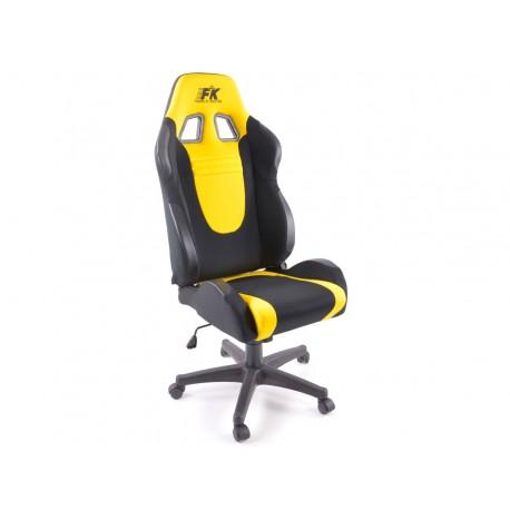 Silla oficina Racecar negro/amarillo