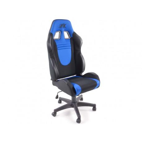 Silla oficina Racecar negro/azul