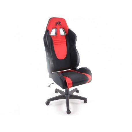 Silla oficina Racecar negro/rojo