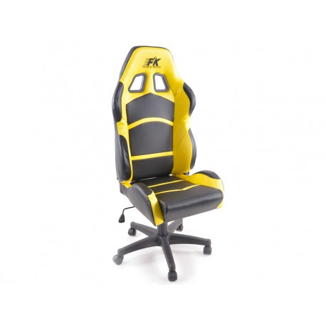 Silla oficina Cyberstar negro/amarillo