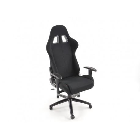Silla oficina gaming con reposabrazos imitation piel negro