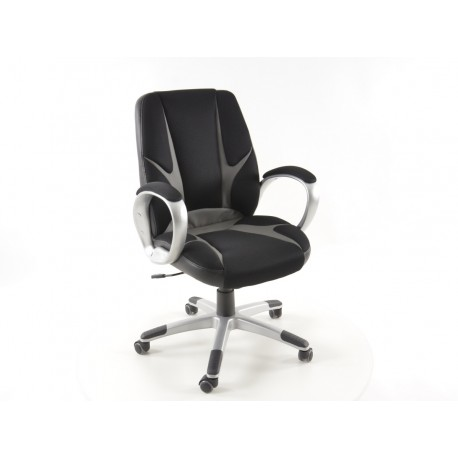 Silla oficina Net negro/gris con reposabrazos