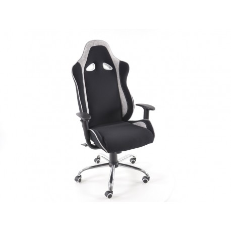 Silla oficina material negro/gris con reposabrazos ajustables