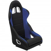 Asiento deportivo K5 - Black/Blue - No-reclinable back-rest - incl. correderas