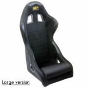 Racingseat tubulair Black fabric - Big model