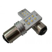 BOMBILLAS 2 POLOS SUPER LED BLANCO 12W CANBUS
