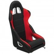 Asiento deportivo K5 - Black/Red - No-reclinable back-rest - incl. correderas