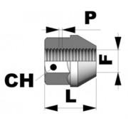 Tuerca conica abierta M12x1,25 L23 C17