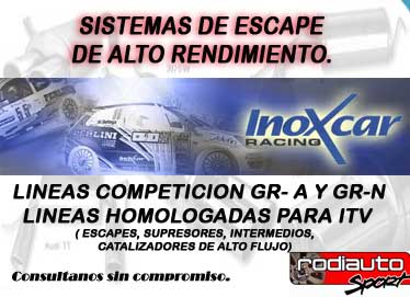 Escapes inoxcar